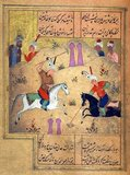 Khwāja Shamsu d-Dīn Muhammad Hāfez-e Shīrāzī (Persian: خواجه شمسالدین محمد حافظ شیرازی), known by his pen name Hāfez (1325/1326–1389/1390),was a Persian lyric poet. His collected works composed of series of Persian poetry (Divan) are to be found in the homes of most Persian speakers in Iran and Afghanistan, as well as elsewhere in the world, who learn his poems by heart and use them as proverbs and sayings to this day. His life and poems have been the subject of much analysis, commentary and interpretation, influencing post-fourteenth century Persian writing more than any other author.<br/><br/>  Themes of his ghazals are the beloved, faith, and exposing hypocrisy. His influence in the lives of Iranians can be found in 'Hafez readings' (fāl-e hāfez, Persian: فال حافظ), frequent use of his poems in Persian traditional music, visual art and Persian calligraphy. His tomb in Shiraz is visited often. Adaptations, imitations and translations of Hafez' poems exist in all major languages., Khwāja Shamsu d-Dīn Muhammad Hāfez-e Shīrāzī (Persian: خواجه شمسالدین محمد حافظ شیرازی), known by his pen name Hāfez (1325/1326–1389/1390),was a Persian lyric poet. His collected works composed of series of Persian poetry (Divan) are to be found in the homes of most Persian speakers in Iran and Afghanistan, as well as elsewhere in the world, who learn his poems by heart and use them as proverbs and sayings to this day. His life and poems have been the subject of much analysis, commentary and interpretation, influencing post-fourteenth century Persian writing more than any other author.<br/><br/>  Themes of his ghazals are the beloved, faith, and exposing hypocrisy. His influence in the lives of Iranians can be found in 'Hafez readings' (fāl-e hāfez, Persian: فال حافظ), frequent use of his poems in Persian traditional music, visual art and Persian calligraphy. His tomb in Shiraz is visited often. Adaptations, imitations and translations of Hafez' poems exist in all major languages.